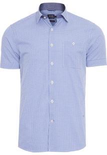 Camisa Masculina Traveller Xadrez - Azul