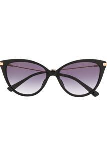 Moschino Eyewear Óculos De Sol Gatinho - Preto