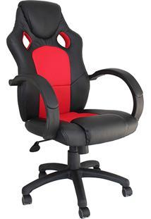Cadeira Presidente Office Racer Preto/Vermelho - Rivatti