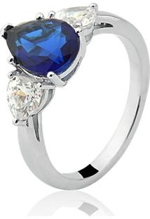 Anel Le Diamond Gota Azul Safira