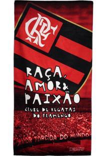 Toalha De Banho Bouton Veludo Flamengo Vermelha