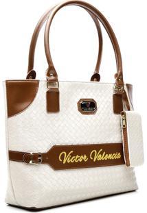 Bolsa Victor Valencia 9900 - Feminino-Branco