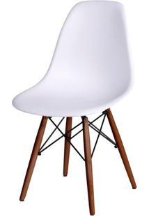 Cadeira Eames Polipropileno Branco Base Escura - 44823 Sun House