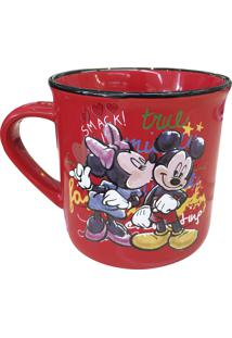 Caneca Minas De Presentes Mickey & Minnie Vermelha