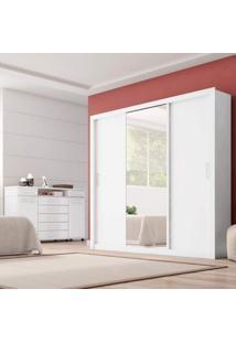 Conjunto Guarda Roupa Casal Com Espelho 3 Portas Residence E Cômoda London Siena Móveis Branco