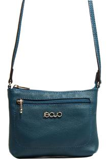 Bolsa Em Couro Recuo Fashion Bag Transversal Verde