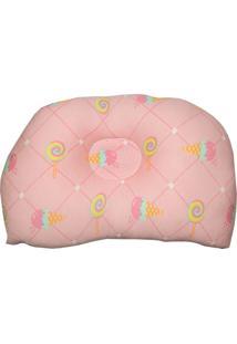 Travesseiro Anatômico Para Bebê Estampa Doces