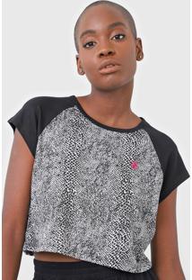 Camiseta Cropped Volcom Snakebit Preta