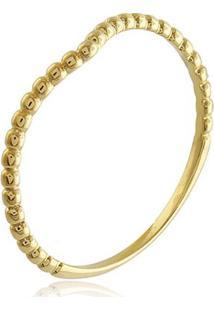 Anel Coroa De Bolinhas Banhado Em Ouro 18K 16