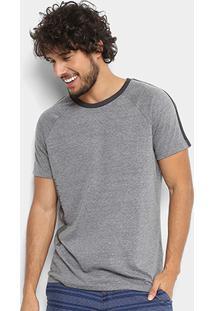 Camiseta Triton Estampa Lateral Masculina - Masculino-Mescla