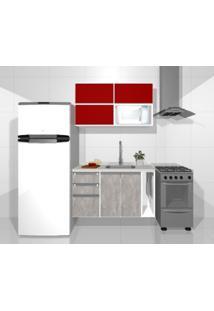 Cozinha Modulada Embut - 1,20M - 3 Básculas - 3 Gavetas - 2 Portas - Micro-Ondas - Toalhas