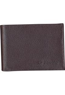 Carteira Masculina Couro Fasolo Porta-Cheques H013 Marrom