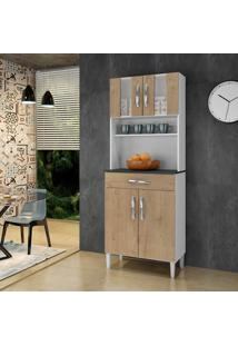 Armário De Cozinha Milão Avelã 4 Portas 1 Gavetão - Arte Móveis