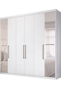 Guarda-Roupa Casal Com Espelho Metrã³Pole 6 Pt 3 Gv Branco