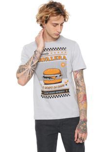 Camiseta Cavalera Hambúrguer Cinza