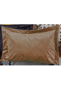 Porta Travesseiro Murano 70Cm X 50Cm Caqui Em Suede Com 1 Peça - Enxovais Ibitinga