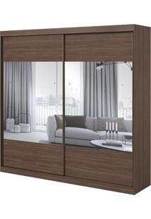 Guarda-Roupa Royal Com Espelho - 2 Portas - Imbuia Naturale