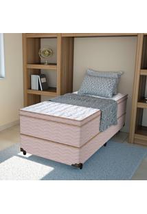 Colchão Solteiro Pillow Top Shinning - Pelmex - Branco / Marrom