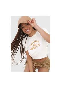 Blusa Cropped Billabong Sunny Days Off-White