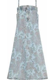 Ganni Vestido Oversized Floral X Levi'S® - Azul