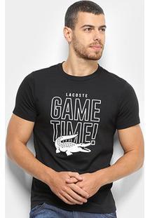 Camiseta Lacoste - Masculino-Preto