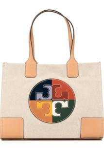 Tory Burch Bolsa Tote Ella Color Block - Marrom