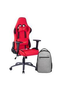 Cadeira Gamer Husky Gaming Racing, Vermelha + Mochila Targus Urbanite Plus 15.6´