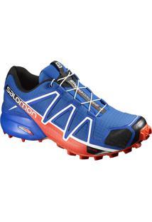 Tênis Salomon Masculino Speedcross 4 Azul/Laranja 45