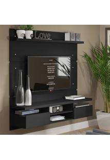 Painel Para Tv Até 65 Polegadas Madesa Master 160 Cm 2 Portas Preto