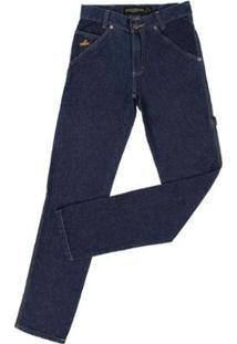 Calça Jeans Carpinteira Country & Cia Masculina - Masculino-Azul Escuro