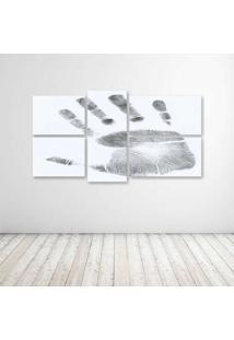 Quadro Decorativo - Hand Print - Composto De 5 Quadros - Multicolorido - Dafiti