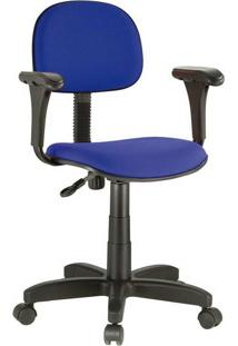Cadeira Digitador Roal Giratória Com Braço, Azul - 1004/752