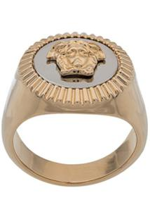Versace Anel Enamel Medusa - Dourado