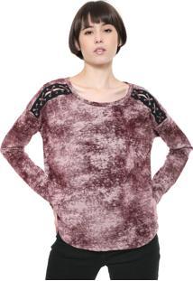 Camiseta Triton Lace Up Vinho