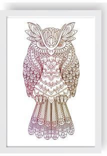 Quadro Love Decor Decorativo Com Moldura Coruja Buffy Fish - Branco - Dafiti