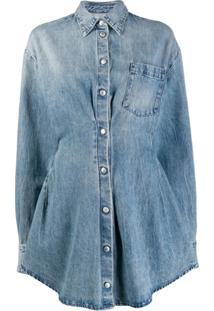 Unravel Project Vestido Jeans Godê - Azul