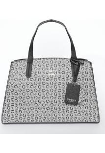 Bolsa Com Compartimentos- Cinza & Preta- 21X38X10Cm
