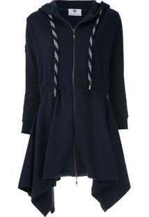 Andrea Bogosian Vestido Moletom Plug Com Capuz - Azul
