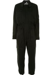 Random Identities Zip-Through Boiler Suit - Preto