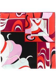 Emilio Pucci Lenço Com Estampa Hanami - Vermelho