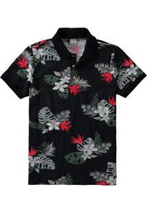 Camisa Polo Slim Floral Malwee