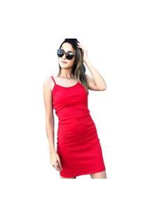 Vestido Tubinho D Bell Vermelho