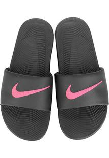 Sandália Nike Kawa Slide Masculina - Masculino-Preto+Rosa