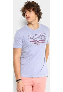 Camiseta Ellus Co Vintage Masculina - Masculino-Lilás