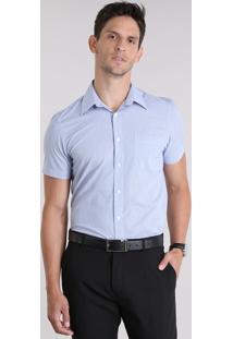 Camisa Comfort Xadrez Azul