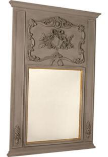 Espelho Decorativo Clássico Saint-Denis De Parede Com Moldura De Madeira