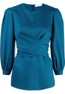 Zimmermann Blusa Com Amarração - Azul