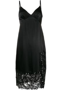 Michael Michael Kors Slip Dress Com Aplicação De Paetês - Preto