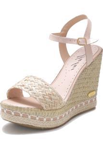 Sandã¡Lia Sb Shoes Anabela Ref.3227 - Feminino - Tãªxtil - Dafiti
