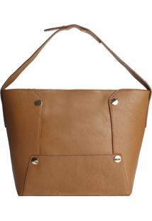 Bolsa Tote/Shopper Clássico, Camel - Le Postiche